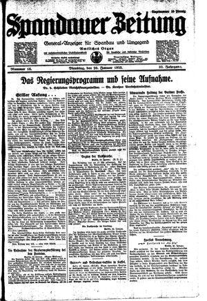 Spandauer Zeitung vom 20.01.1925