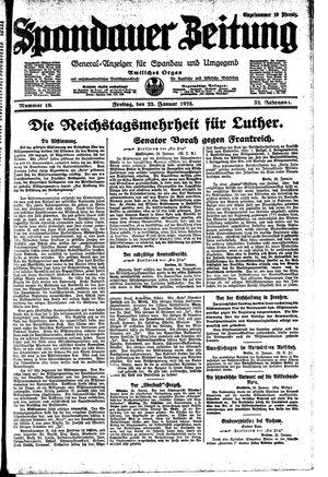 Spandauer Zeitung vom 23.01.1925