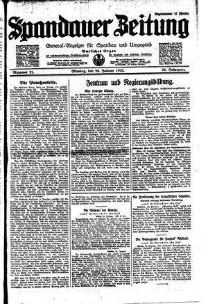 Spandauer Zeitung vom 26.01.1925