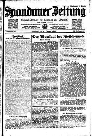 Spandauer Zeitung on Jan 27, 1925