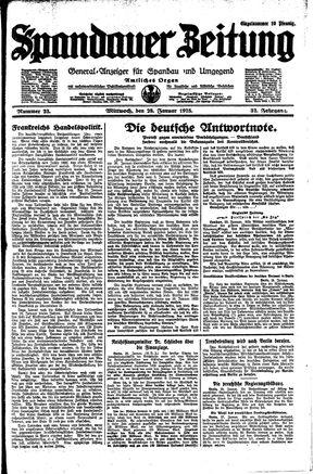 Spandauer Zeitung vom 28.01.1925