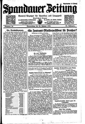 Spandauer Zeitung vom 29.01.1925