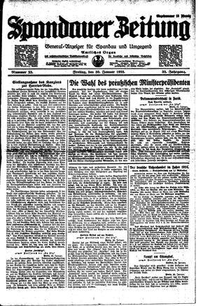 Spandauer Zeitung on Jan 30, 1925
