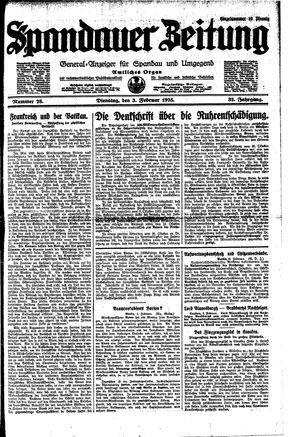 Spandauer Zeitung vom 03.02.1925