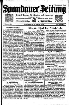 Spandauer Zeitung on Feb 5, 1925