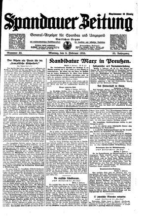 Spandauer Zeitung vom 09.02.1925