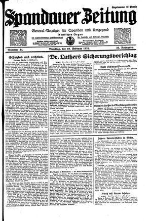 Spandauer Zeitung vom 10.02.1925
