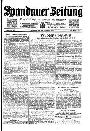 Spandauer Zeitung vom 11.02.1925
