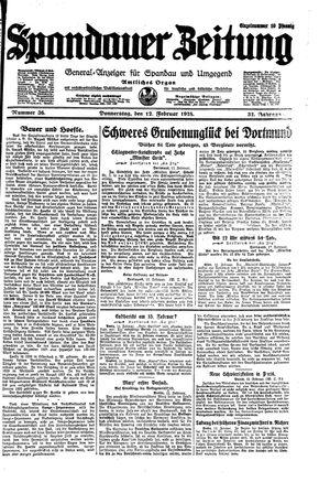 Spandauer Zeitung vom 12.02.1925