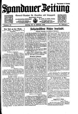 Spandauer Zeitung vom 13.02.1925