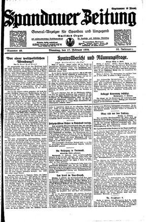 Spandauer Zeitung vom 17.02.1925