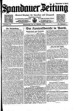 Spandauer Zeitung vom 19.02.1925