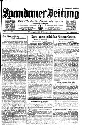 Spandauer Zeitung on Feb 23, 1925