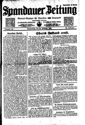 Spandauer Zeitung vom 26.02.1925