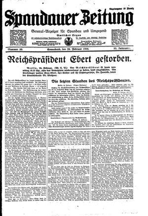 Spandauer Zeitung on Feb 28, 1925