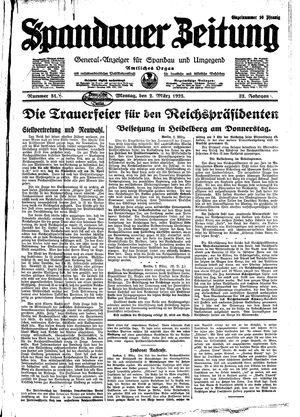 Spandauer Zeitung vom 02.03.1925
