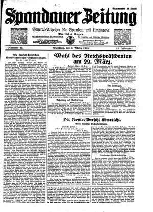 Spandauer Zeitung vom 03.03.1925
