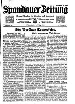 Spandauer Zeitung on Mar 4, 1925