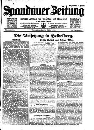 Spandauer Zeitung vom 05.03.1925