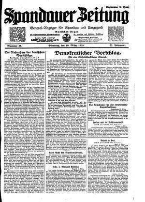 Spandauer Zeitung vom 10.03.1925