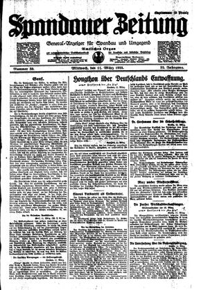 Spandauer Zeitung on Mar 11, 1925
