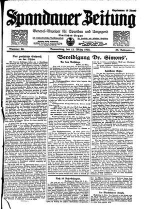 Spandauer Zeitung vom 12.03.1925