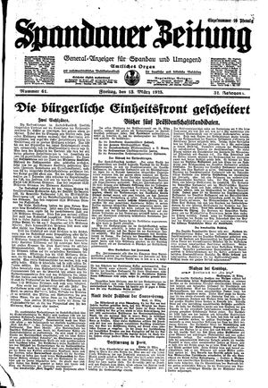 Spandauer Zeitung on Mar 13, 1925