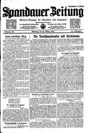 Spandauer Zeitung vom 23.03.1925