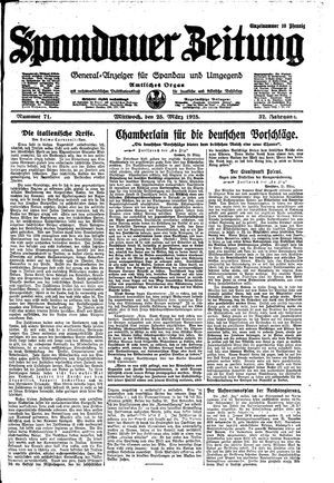 Spandauer Zeitung vom 25.03.1925