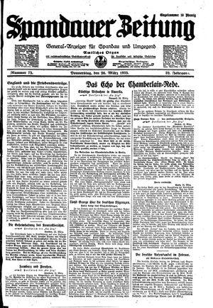 Spandauer Zeitung vom 26.03.1925