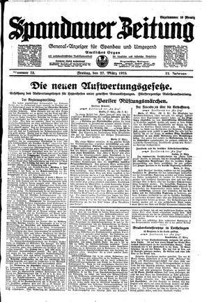 Spandauer Zeitung vom 27.03.1925