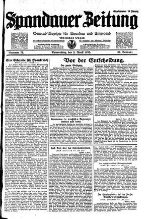 Spandauer Zeitung vom 02.04.1925
