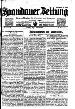 Spandauer Zeitung on Apr 3, 1925