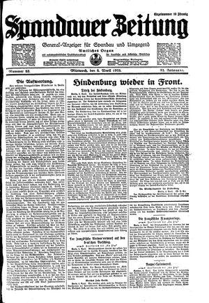 Spandauer Zeitung vom 08.04.1925