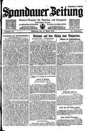 Spandauer Zeitung on Apr 15, 1925