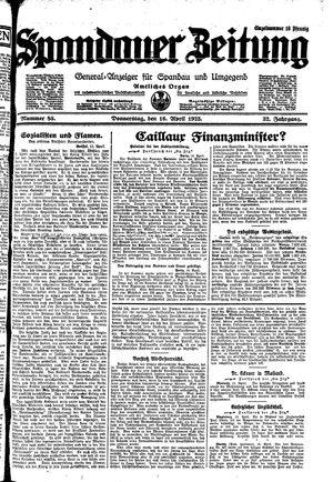 Spandauer Zeitung on Apr 16, 1925