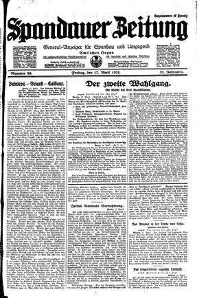 Spandauer Zeitung on Apr 17, 1925