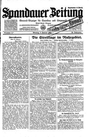 Spandauer Zeitung vom 05.01.1931