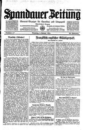 Spandauer Zeitung on Jan 6, 1931