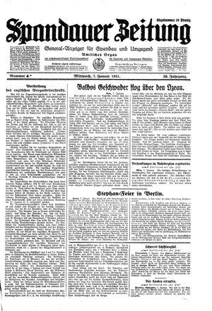 Spandauer Zeitung vom 07.01.1931