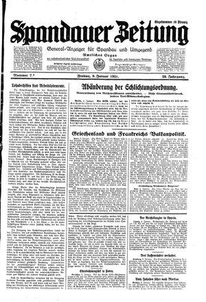 Spandauer Zeitung vom 09.01.1931