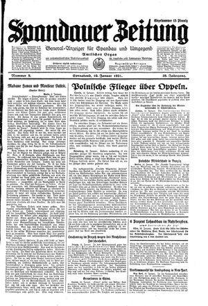 Spandauer Zeitung vom 10.01.1931