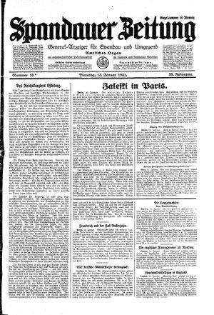 Spandauer Zeitung vom 13.01.1931