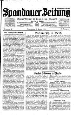 Spandauer Zeitung vom 15.01.1931