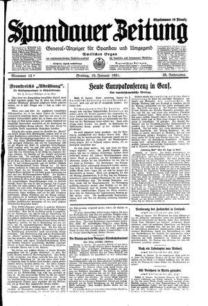 Spandauer Zeitung vom 16.01.1931