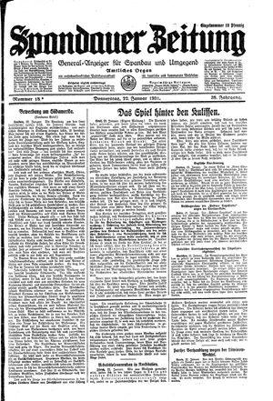 Spandauer Zeitung vom 22.01.1931