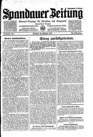 Spandauer Zeitung vom 23.01.1931