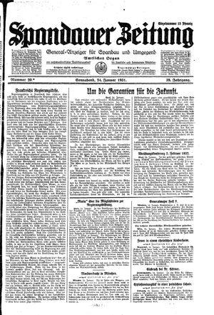 Spandauer Zeitung vom 24.01.1931