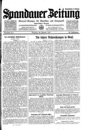 Spandauer Zeitung vom 26.01.1931