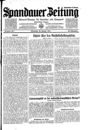 Spandauer Zeitung on Jan 28, 1931